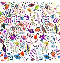 Floral vintage flower seamless pattern vector image