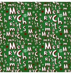 Holiday Christmas seamless background vector image