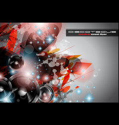 Music Club background for disco dance vector image vector image