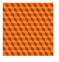 abstract seamless backgroynd 3d cubes vector image