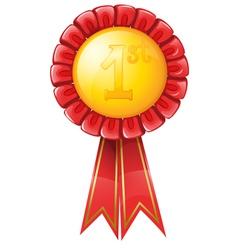 First Place Award Ribbon vector image vector image