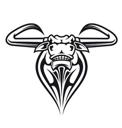 Wild buffalo bull head vector