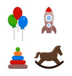 kids toys set vector image