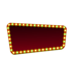 red street marquee sign with light and blank space vector image vector image