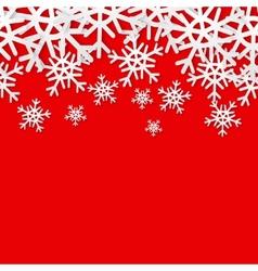 Snowflakes seamless border Christmas holiday vector image