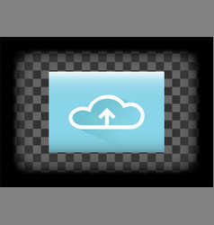Upload to cloud icon vector