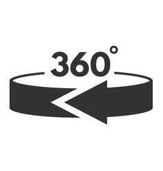 360 degree black icon rotation panorama vector