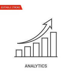 analytics icon thin line vector image