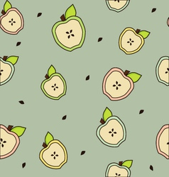 Apple seamless background gray vector