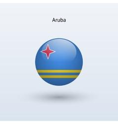 Aruba round flag vector
