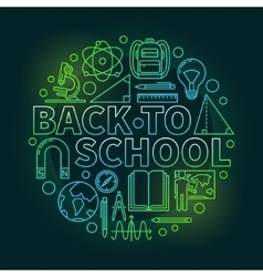Back to school colorful vector image