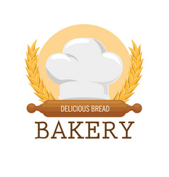 bakery shop label icon vector image