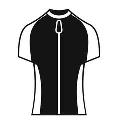Bike zipper clothes icon simple style vector