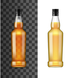 bottle alcohol drink isolated realistic mockup vector image