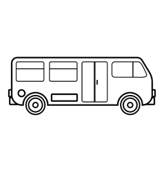 Bus icon outline style vector