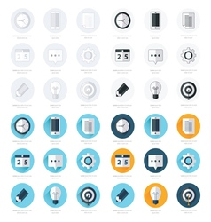 business flat design icons Set 4 Styles vector image