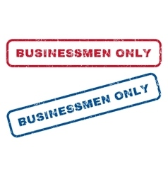 Businessmen Only Rubber Stamps vector
