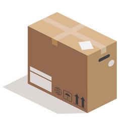 Carton box side view vector