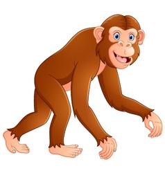 Cartoon funny monkey vector