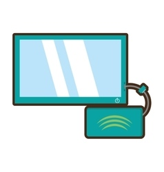 Cartoon tv modem signal internet vector