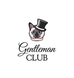 cat wearing in top hat vector image