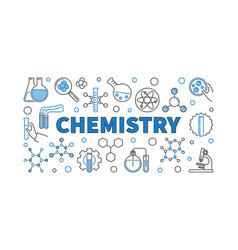 Chemistry concept modern horizontal banner vector