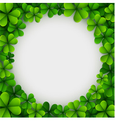 clover leaves background vector image