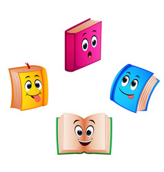 collection book with different expression vector image