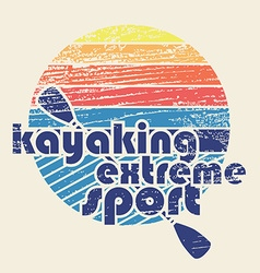 Colorful with signature kayaking extreme sp vector