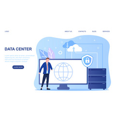 Data center concept vector