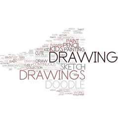 Drawings word cloud concept vector