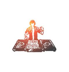 edm dj party music club concept vector image