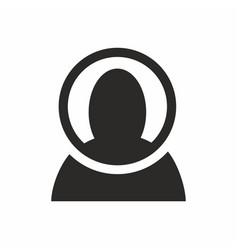facial recognition scan icon vector image