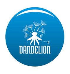 Field dandelion logo icon blue vector