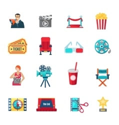 Filmmaking Icons Set vector image