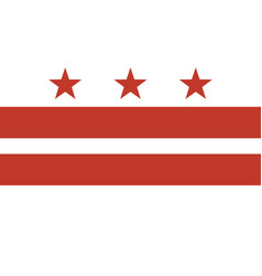 Flag district columbia vector