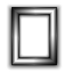 Frame for photo Metal style vector image