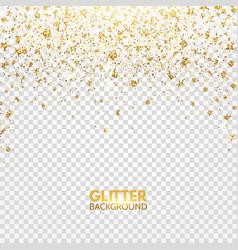 glitter confetti gold glitter falling on vector image