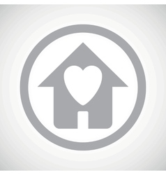 Grey beloved house sign icon vector