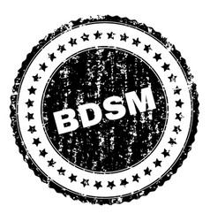 Grunge textured bdsm stamp seal vector
