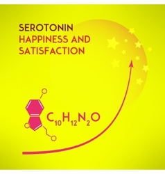 Happiness chemistry and satisfaction concept vector