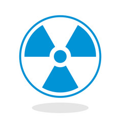 icon of a radioactive symbol vector image