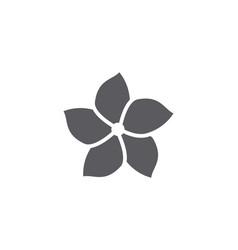 Jasmine flower icon logo template vector
