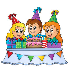 kids party theme image 1 vector image