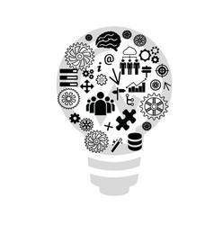 Lamp expert system web design vector
