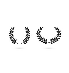 laurel wreaths icons for web design award sign vector image