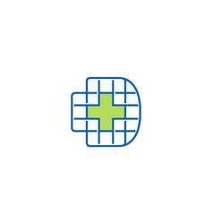 Letter d monogram logo design vector