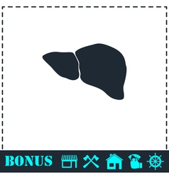 Liver icon flat vector