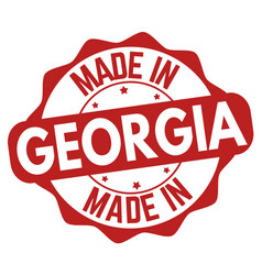 Made in georgia sign or stamp vector