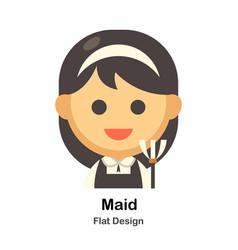 Maid flat vector